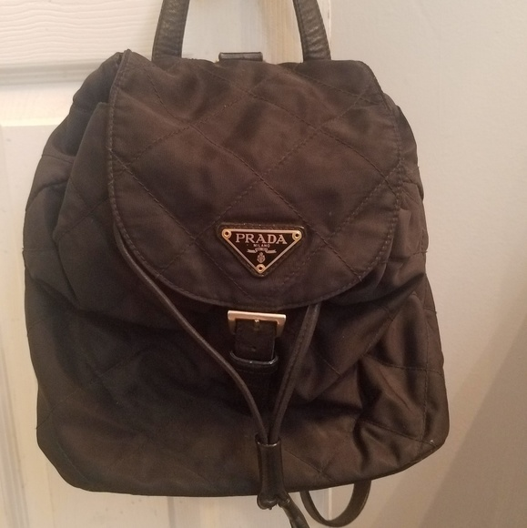 Vintage small quilted Prada backpack. M 5c0adcfa8ad2f971153c16a7 ef70ec1c53